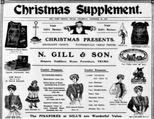 N Gill & Son, Advertisement - West Briton - 10.12.1908