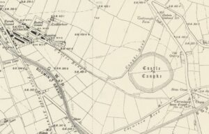19th century Castle Canyke Ancient Fort Map
