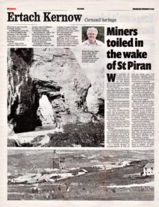 Ertach Kernow - Miners toiled in the wake of St Piran