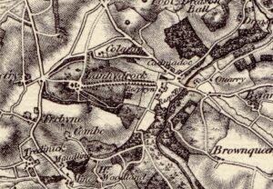 Hamlet of Respryn and Respryn Bridge - Early 19th century Ordnance Survey Map