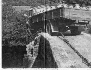 Milk Churn Lorry Accident Respryn - Brian Oldham - Liskeard Old Cornwall Society & Liakeard Area Rep for CAS