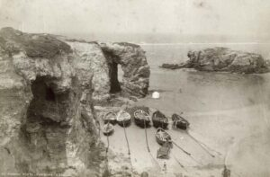 Perranporth Droskyn cliff workings circa 1880s
