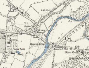 Respryn Bridge - Map 1888 (Surveyed 1881)