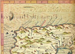 Botallack - Penwith - John Norden's Map