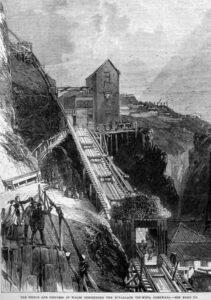 Botallack Tin Mine visit by Prince & Princess Wales - Illustrated London News 1865