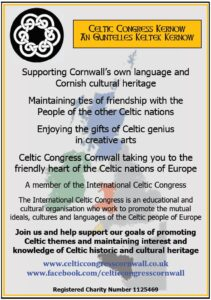 Celtic Congress Cornwall - Membership Form