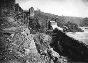 Crown engine at Botallack mine in the 1890s [Gibson]