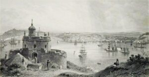 Falmouth engraved by John Sadler circa 1850