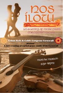St Piran's Festival - Urban Kelt Sessions - Monday 1st March