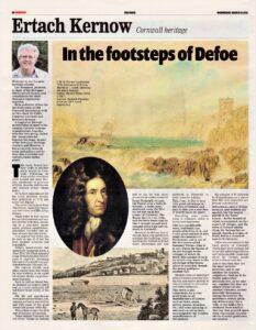 Ertach Kernow - In the footsteps of Defoe