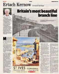 Ertach Kernow - Britain's most beautiful branch line