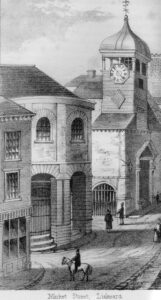 Market Street Liskeard Sketch from around 1865