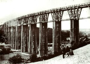 Moorswater Viaduct before 1881 when replaced in stone