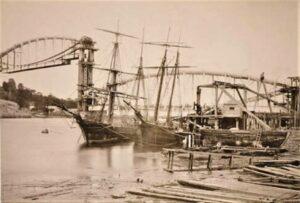 Royal Albert Bridge Saltash under construction 1858