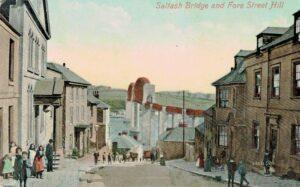 Saltash Bridge & Fore Street Hill 1910