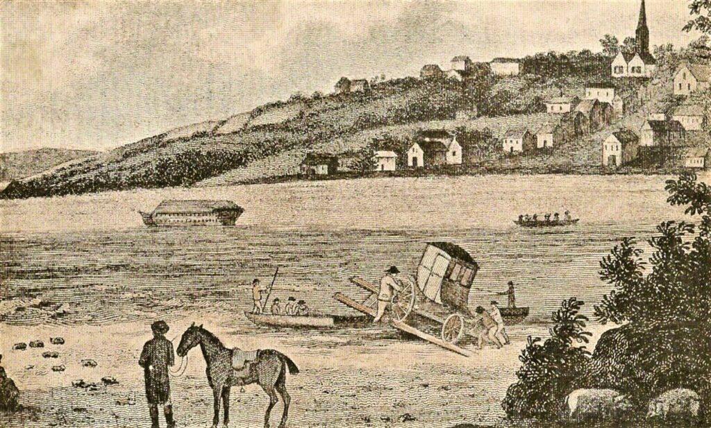 Saltash Passage - wood engraving 1811