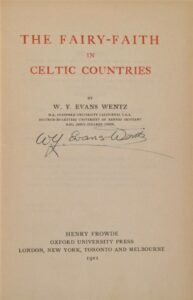 The Fairy-Faith in Celtic Countries - Signed Title page