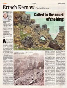 Ertach Kernow - Called to the court of the king