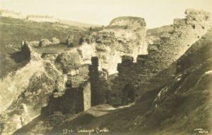 Early 20th century postcard Tintagel Castle