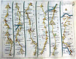 Emanuel Bowen [1694-1767] Road Map