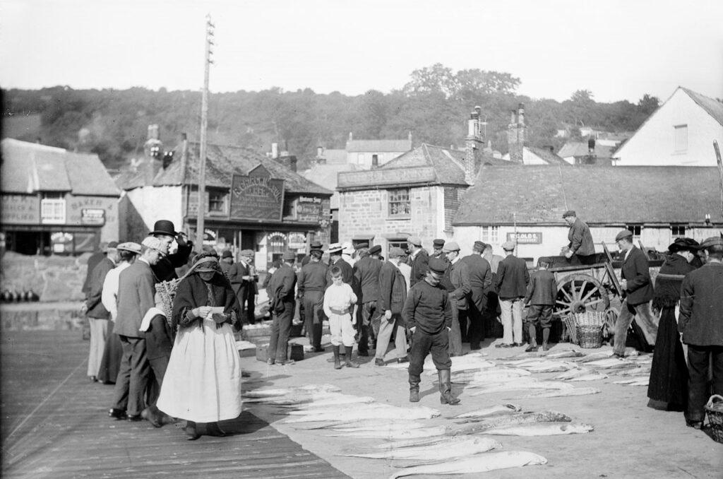 Fish market, Newlyn, Cornwall [Morrab Library]