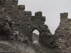 Glass Magic Lantern Slide View of Tintagel Castle C1890
