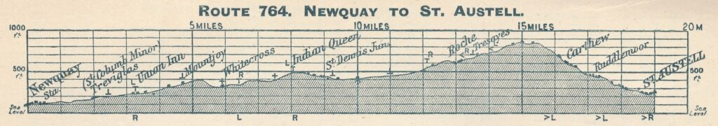 Route 764 Newquay to St Austell [1900]