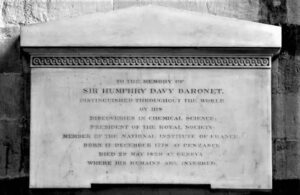 Sir Humphry Davy memorial Westminster Abbey