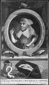 Dolly Pentreath by unknown engraver, pubd 1781 (after R. Scaddan)