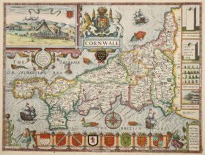 John Speed map of Cornwall 1610