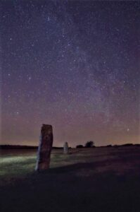 Night Sky over 'The Hurlers' at Minions (Cornwall Council 'Dark Sky' application)