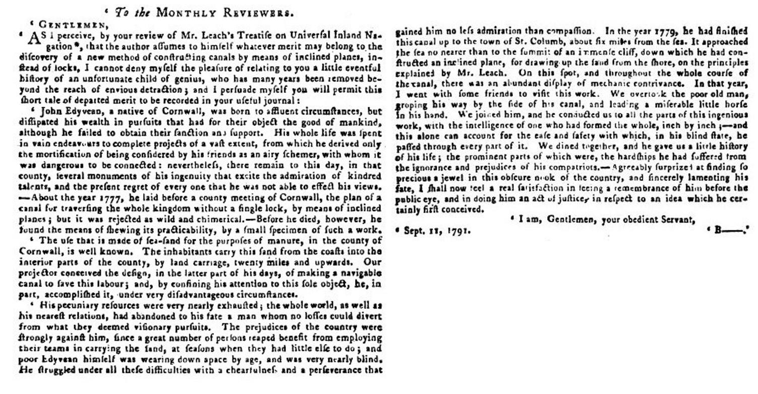 The Monthly Review 17921 - John Edyvean