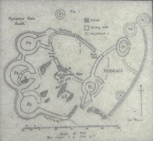 Plan of the southern (Ivor Thomas 1960 ) part of the Kynance Gate Settlement