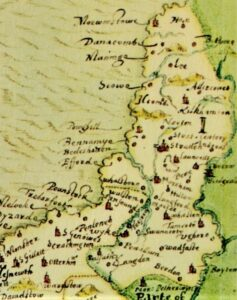 Stratton Hundred from John Norden Cornwall Map