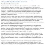 Ertach Kernow Heritage Column - 11 August 2021 - The Prayer Book Rebellion