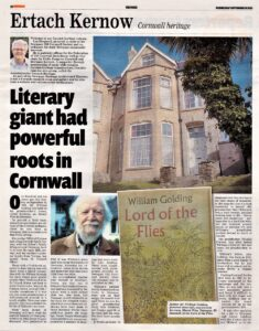 Ertach Kernow- Literary giant had powerful roots in Cornwall