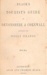 Blacks Guide 1855 a rare early edition for Devon & Cornwall