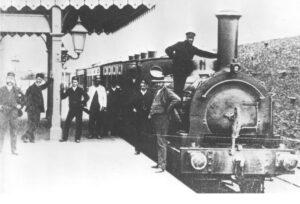 First Newquay passenger train 1876