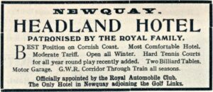 Headland Hotel - Ward & Locks Guide early 20th century