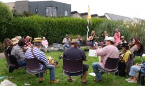Preparing for 'The Great Big Cornish Music Session' aBagas Crowd Session