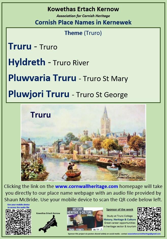 Cornish Place Names - Truro