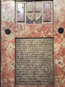 Francis Tregian tomb at Igreja de São Roque in Lisbon
