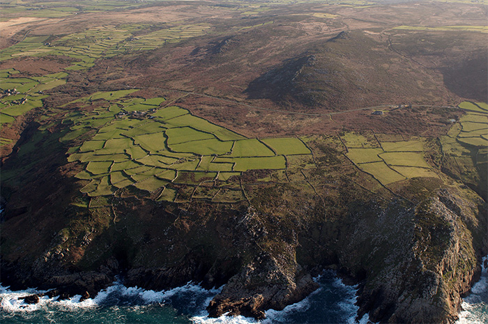 Prehistoric field enclosures at Bosigran, west Cornwall